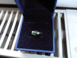 Diamond and Emerald Ring - SOLD
