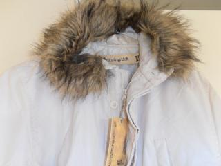 White Medium Fake Fur Trim Parka