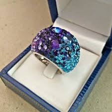 Swarovski Chic Ring Purple Blue